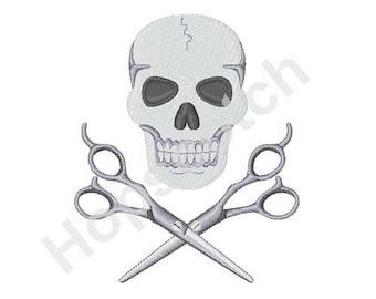 Skull And Scissors Etsy
