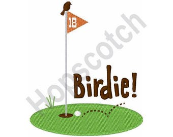 Golf Flag - Machine Embroidery Design