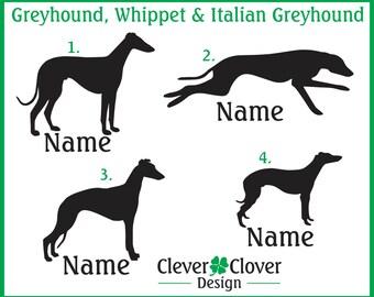 Greyhound, Whippet & Italian Greyhound Vinyl Stickers