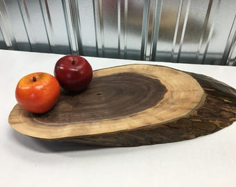 Serving Board made from Live Edge Walnut Wood