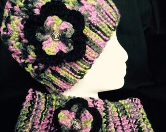 Messy Bun Beanie, Ponytail Beanie, Crochet Beanie,