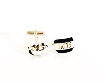 Cufflinks / personalized cufflinks/ groomsmen party gifts /wedding gifts / wedding favor/father of the bride gift / gifts/ groomsmen gift/