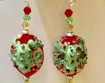 Glass Frog Earrings