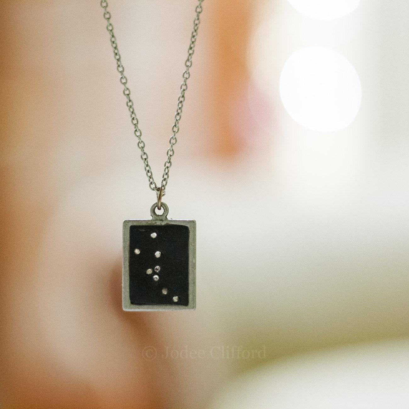 Taurus Constellation Necklace: Taurus Constellation Necklace Edgy W Swarovski Crystal Zodiac