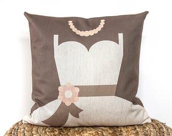 Bride Pillow Cover,Throw Pillow, Decorative Pillow Cover, Cushion Cover, Wedding Gift