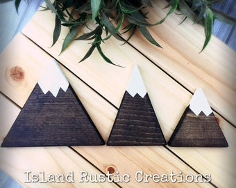 Mountain Decor, woodland, Wood Mountains, Rustic nursey