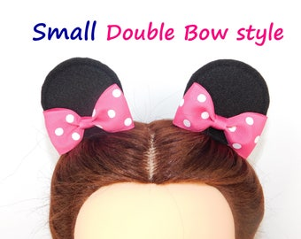 Disney Mickey Mouse Ears Minnie Ears Hair Clips with Bows Costume Party Birthday Deluxe Minnie Mouse Ear Mickey mouse alligator hair clips