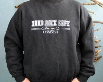 Black Hard Rock Cafe LONDON sweatshirt 1971 vintage rock'n'roll hoodie