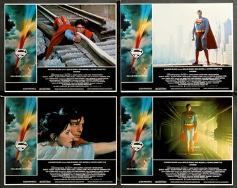 Superman: The Movie (1978) Lobby Cards - Set of 8
