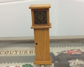 Vintage 1950s dolls house wooden grandfather clock miniature dolls house furniture classic miniature clock midcentury modern