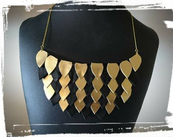Necklace leather breastplate