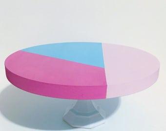 Smash Cake Stand / Cake Stand / Mini Cake Stand / Color Block / Pink and Blue Cake Stand / Cupcake Stand / Cake pop stand / Cake Smash