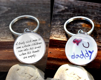 Made to Order Double Sided Keychain, Handwriting Keychain