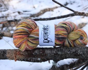 Inferno (Speckle) - Hand Dyed Yarn -  Alpaca/Wool (80/20) Bulky Weight