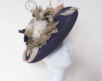 Saucer Style Purple and Gold Hat