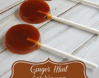 Ginger & peppermint lolipops