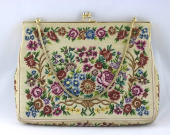 Reserved Marie Tapestry Evening Bag, Tapestry Purse, Tapestry Bag, Evening Purse, Small Purse, Floral Purse, Vintage Handbag, Embroidery