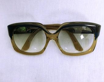 CELINE vintage Navy×brown beige Frame Sunglasses Eyewear
