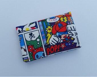Business Card Holder, Tokidoki Ju Ju Be Super Toki Small Wallet Sleeve Insert Credit Card Case Sweet Victory Snap Wallet Cash Slip Pocket
