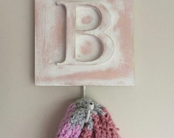 Letter Hooks, Coat Hooks, Key Hook, Alphabet Home interiors, Home Decor, Bedroom Decor, Nursery Decoration, personalised present, mens gift