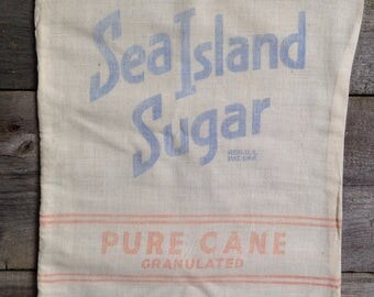 Vintage Sea Island 10 pound sugar sack | Free shipping