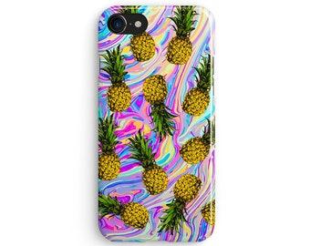Molten pineapple pattern - iPhone 7 case, Samsung Galaxy S7 case, iPhone 6, iPhone 7 plus, iPhone SE, iPhone 5S, 1C034A