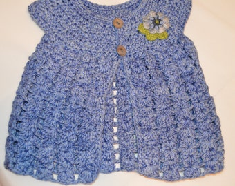 1 - 2 Years Old Girls' Blue Cardigan
