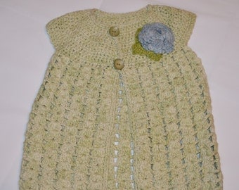 2 - 3 Years Old Girls' Light Green Cardigan
