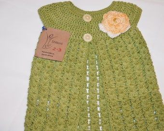 2 - 3 Years Old Girls' Green Cardigan