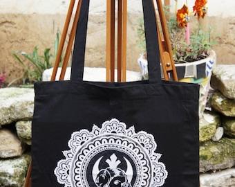 Tote Bag Star Wars - Mandala - Princess Leia - Black