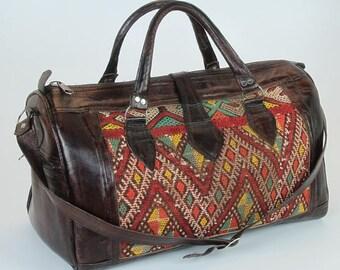 Kilim traveling bag