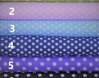 Beautiful Large polka dot series Fabric, per fat quarter/per half meter/per meter/fat quarter bundle