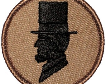 Abe Lincoln Patch (296) 2 Inch Diameter Embroidered Patch