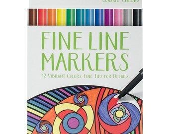 Crayola Fine Line Marker Set 12/Pkg, Classic Colors, great for Adult Coloring-FREE SHIPPING