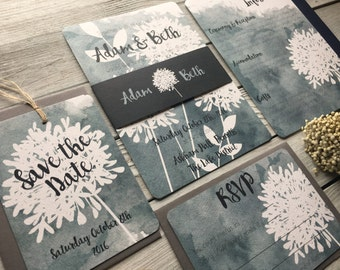 Allium Wedding Invitation Set - Sample Only