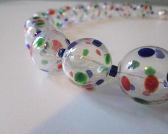 """Necklace with Hohlglasperlen & Lapis """"Bubbles"""""""