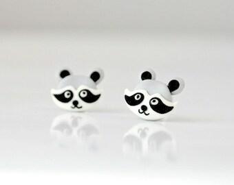 Tiny raccon - earrings