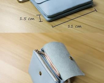 SALE~~Calfskin Leather Wallet Card Holder Coin Cash Holder Women Travel Slim Wallet Minimalist Wallet Free Personalized Initials Handmade Su