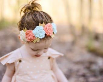 Boho Flower Crown. Hippie flower crown, boho headband, hippie headband, flower power, boho headwear, hippie flowers, boho toddler, boho baby