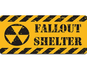 Fallout Shelter | Metal Sign | Vintage Effect