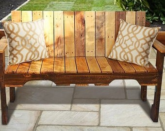 Wooden 2 Person Bench