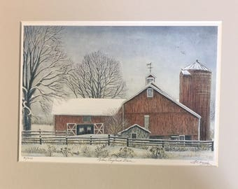 New England Barn - Classic Connecticut Scene, wall art, country memories, gift priced