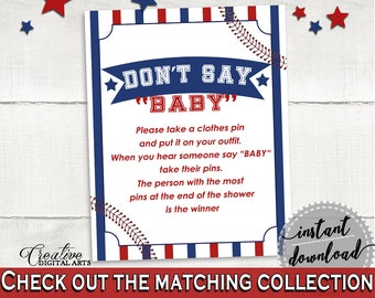 Dont Say Baby Baby Shower Dont Say Baby Baseball Baby Shower Dont Say Baby Baby Shower Baseball Dont Say Baby Blue Red pdf jpg YKN4H