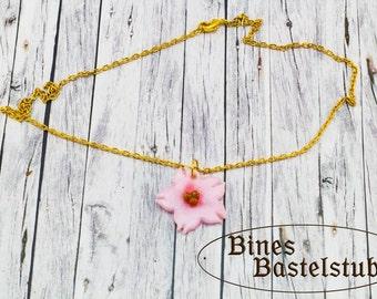 Sakura Neklace | Cherry Blossom Necklace | Sakura Blossom | Necklace |  pink Cherry Blossom | Polymer Clay Necklace | Polymer Clay Sakura