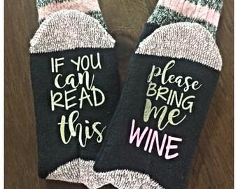 Customized Socks, Funny Sayings, Ladies Wool Socks