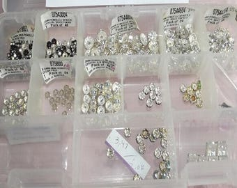 250 Crystal AB Rondelle Australian Spacers Jewelry Making Supply Sterling Silver