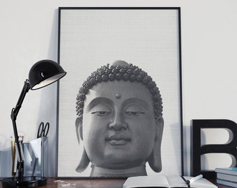 Indian Buddha Print, Yoga Poster, Buddhist Wall Art, Office Decor, Home Decor - 025