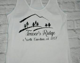 Frasers ridge, outlander shirt, outlander tank top, outlander inspired, outlander shirt