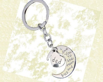 I Love You To The Moon Key Chains