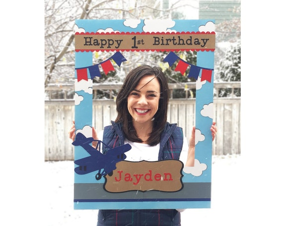 Airplane Birthday Party Giant Photo Frame Prop For Photo